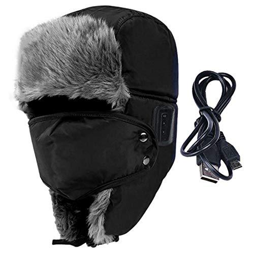 LBWNB Bluetooth hat-Trooper Trapper hat Built-in HD Stereo Speakers & Mikrofon mit wiederaufladbarem USB for Winter Fitness Outdoor Sports & Christmas ()