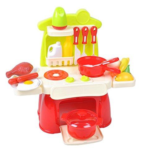 Iso Trade Kinderküche XS Spielküche für Puppen Kinderspielküche Spielzeugküche Küche #1306 - Küche Puppe
