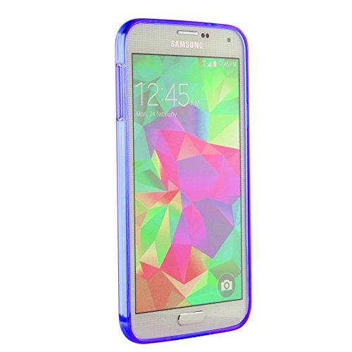 Urcover® Galaxy S5 Mini Hülle, TPU / Silikon Schutzhülle Ultra Slim Transparent Crystal Clear durchsichtig Klar Case Cover Smartphone Zubehör Schale Handyhülle für Samsung Galaxy S5 Mini Farbe: Transp Lila