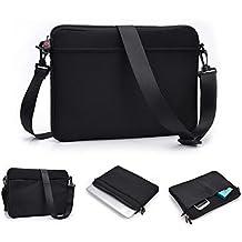 'Kroo uneversal Messenger/funda bolsa con bolsillo para accesorios y correa para el hombro Compatible con para Acer Aspire S7–391 negro negro