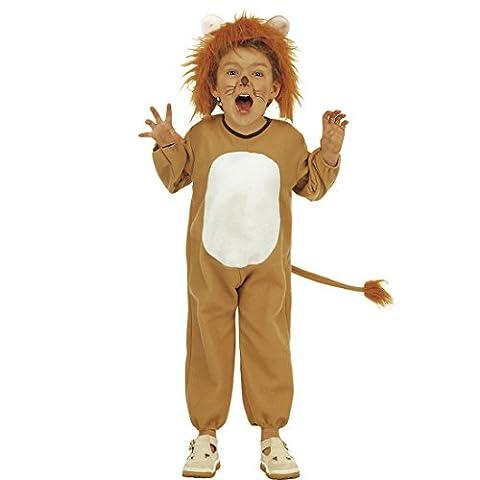 Löwenkostüm Kinder Löwe Kostüm 104 cm 2-3 Jahre König der Löwen Kinderkostüm Raubkatze Faschingskostüm Dschungel Tier Katzenkostüm Kind Safari Jumpsuit Wildkatze Tierkostüme Overall Katze