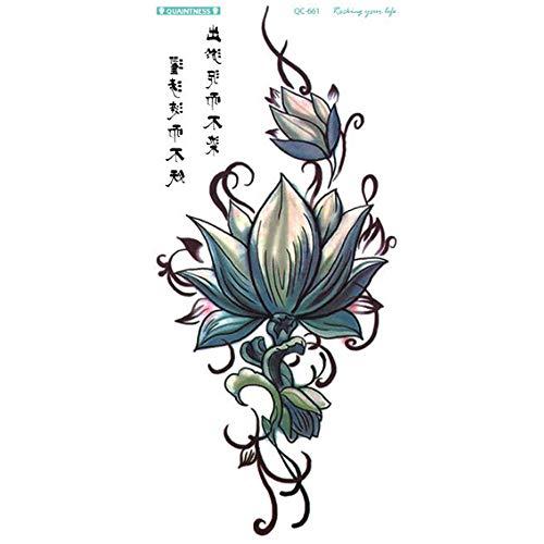 (Kashyk Einweg-Tattoos für Damen, sexy personalisierbar, sichere temporäre Tattoos, Körper-Make-up, wasserfest, schweißfest, für Musikfestival, Halloween, Party, Make-up, Tanzpartys)