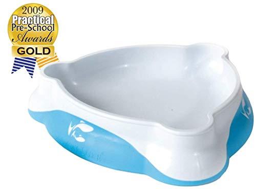 Baby & Kleinkind Teller/Schüssel - Das Smart-Design hilft Ihrem Kind nachweislich, selbständig zu essen. me-feed-me Baby Schüssel von Salmon Luke (Eine Teller, Blue)