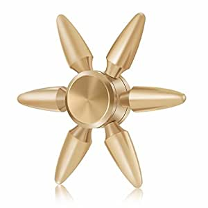 Toyshine Fidget Spinner with Smooth Spin, Antique Gold