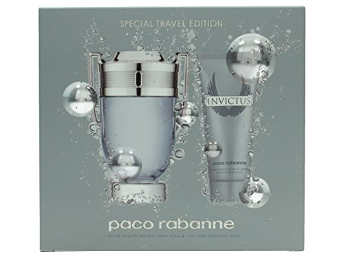 Paco Rabanne Invictus Eau De Toilette Spray and Body Wash Gift Set for Him