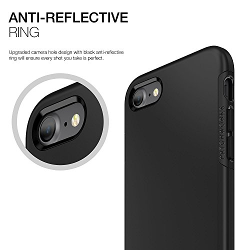 Patchworks Level iPhone 8 / 7 Hülle für iPhone 8 / 7  Hülle, iPhone 8 / 7 Schutzhülle - Military Grade Certified Drop Protection, iPhone 8 / 7 Schutzhülle schwarz/schwarz [Black/Black ITGL810] Black Black