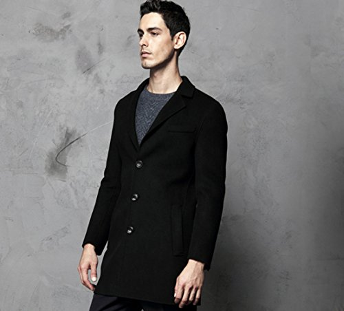 Icegrey - Manteau - Trench - Manches Longues - Homme Noir