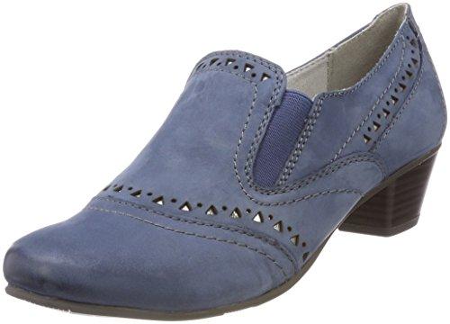 Jana Damen 24320 Slipper, Blau (Jeans), 37 EU