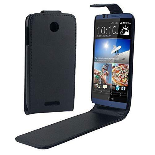 Allshopstock (#52) für HTC Desire 510 Vertical Flip Cover Magnetic Snap Leather Case (Schwarz)
