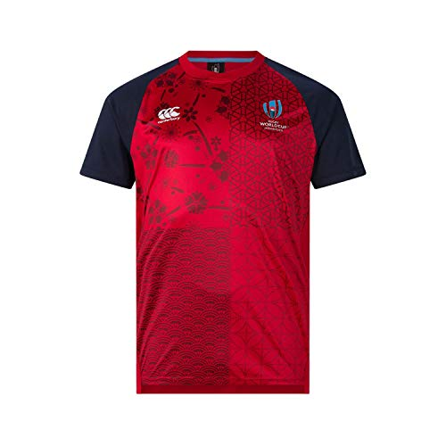 Canterbury of New Zealand Men's Rugby World Cup 2019 Tech T-Shirt, Flag Red, L - Canterbury Of New Zealand Rugby