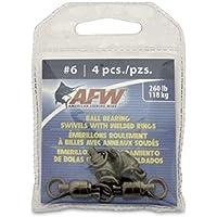 American Fishing Wire Black Ball Bearing Swivel 4 Pack #