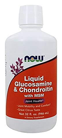 NOW Foods Liquid Glucosamine and Chondroitin with MSM Citrus 32 oz - New