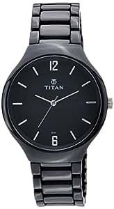 Titan Ceramic Analog Black Dial Men's Watch - 90014KC01J