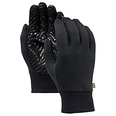 Burton Snowboards Winter 2015 Powerstretch Snowboard Glove Liner True Black S/M