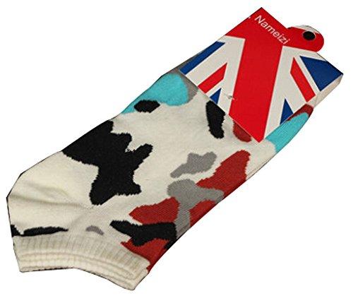 Lot de 2 Flag chaussettes en coton chaussettes pour hommes Blanc Gris ivoire