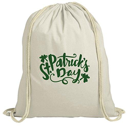 Saint Patrick's Day natur Rucksack Turnbeutel St. Patricks Day Natur
