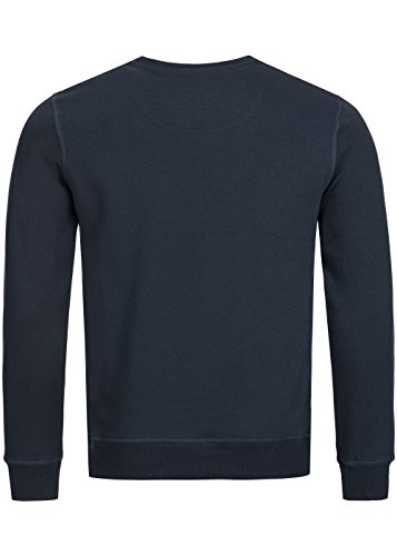 Brave Soul Herren Sweater, Crew Neck Pullover, Regular fit, dark navy Dark Navy
