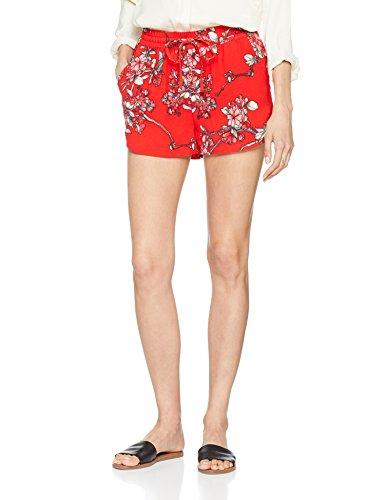 ONLY NOS Damen Onlturner AOP Shorts WVN Noos, Mehrfarbig (High Risk Red AOP:Flower Print), 38