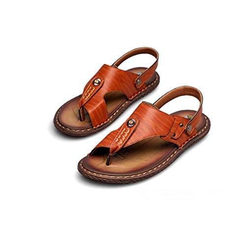 LYZGF Hommes Jeunes Sandales DÉté Mode Casual Herringbone Beach Pantoufles brown