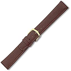 Eichmüller Leather Strap Clip Brown 10mm-Gold Clasp