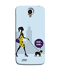 Lenovo S820 Back Cover Lady With The Dog Design From FUSON