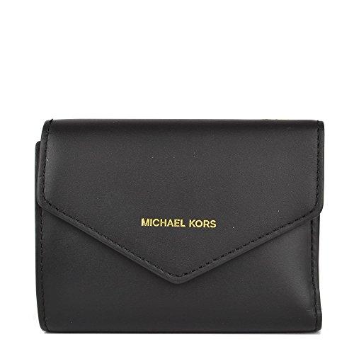Michael Kors MICHAEL by Blakely Karte Brieftasche Leder Schwarz Damen Black one - Brieftaschen Mk Frauen Für