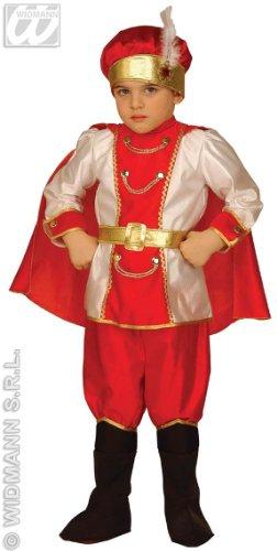 Mittelalterliches Schnee-Prinzen Kostüm für Jungen 98/104 (3-4 Jahre)