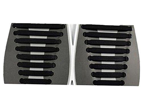 Tri-Elt 1 Paar Silikon Schnürsenkel Elastisch Senkel Schuhband kein  Krawatte Schuhband für Erwachsen 067c5619de1