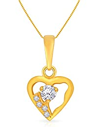 Malabar Gold and Diamonds 22k Yellow Gold and Cubic Zirconia Pendant