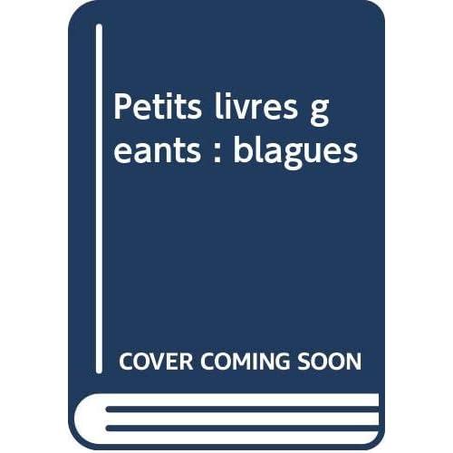 Petits livres géants : blagues
