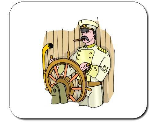 Mauspad mit der Grafik: Hauptmann