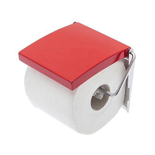 Carpemodo Toilettenpapierhalter, Farbe: Rot, Größe: 13,5x11,7x2,5cm