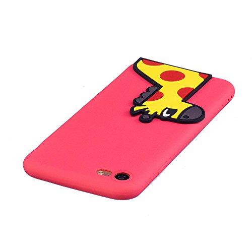 EUWLY Silicone Custodia per iPhone 7/iPhone 8 (4.7), 3D Creativo Cute Cartoon Animale Solid Modello TPU Cover Case per iPhone 7/iPhone 8 (4.7) Ultra Sottile Morbido Silicone TPU Cover Copertura Dive Cervo