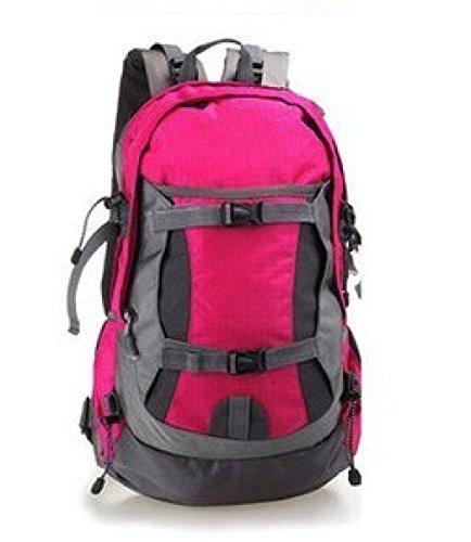 Nylon Trekking Schulter Tasche Faltbar Bergsteigen Tasche 40L rose
