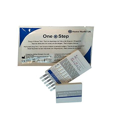 Test de 10 Drogas Sencillo y Multipanel en Orina: Detecta cocaína, cannabis, metanfetaminas, opiáceos, fenciclidina, benzodiacepinas, antidepresivos tricíclicos, barbitúricos y metadona - Prueba de Drogas Multipantalla en Panel de 10 Sustancias