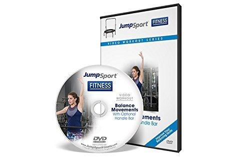 JumpSport Fitness Trampolin Workout DVD - Balanced Focused - Griffstange Option erhältlich, weiß, 5x5x.1