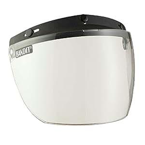 Bandit Visiera pieghevole, integrale, per caschi jet., Donna uomo, Clear