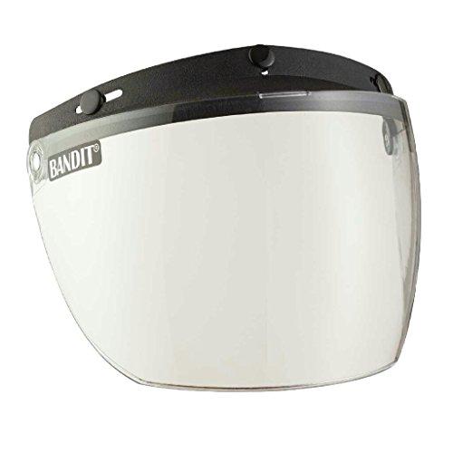 Bandit Helmets Klappvisier für Jet Helme zum anknöpfen,leichte Rasterfunktion,verschiedene Farben,neu, Sports-Farbe:clear