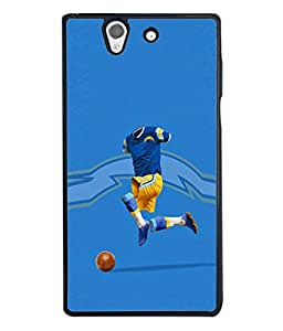 Fuson Designer Back Case Cover for Sony Xperia Z :: Sony Xperia ZC6603 :: Sony Xperia Z L36h C6602 :: Sony Xperia Z LTE, Sony Xperia Z HSPA+ (Football Club Blue Yellow Dress Faceless )