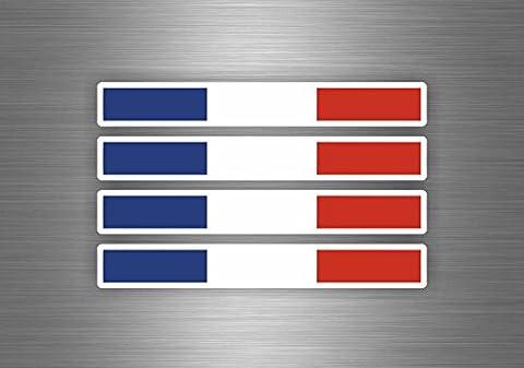 4x Autocollant sticker voiture moto macbook drapeau tuning auto france brassard