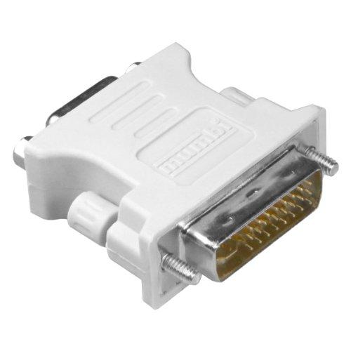 mumbi DVI Adapter (DVI-I zu VGA) DVI 24+5 zu VGA Adapter - Digital auf Analog Adapter für Grafikkarten, Beamer, und Monitore TFT (Crt) Crt-monitore