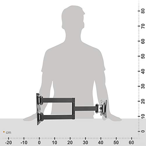 RICOO Monitor Wand-Halterung Schwenkbar Neigbar S2911 Monitor-Halter Wandhalterung-TV LCD LED Wandhalter fuer Flach-Bildschirm PC-Monitor 43-49-54-61-68cm / 17′ 19′ 22′ 24′ 27′ Zoll | VESA max. 100 x 100 universell | Wandabstand nur 68 mm | - 5