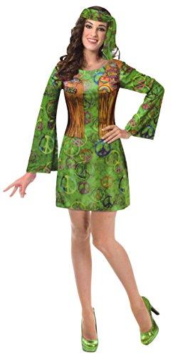 BRANDSSELLER Damen/Herren Kostüm Verkleidung Fasching Karneval Party - (L/XL, Damen/Hippie 2)
