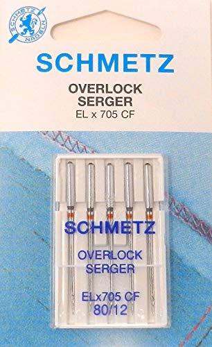 SCHMETZ Overlocknadeln EL x 705 CF (Jersey) für Singer S14-78 St. 80