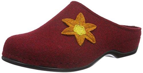 Elenor Berkemann 258 dunkelrot Rot Donna Pantofole Rosse 0drwqCd