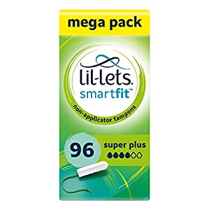 Lil-lets Non-Applicator Super Plus Tampons X 96 | 6 Packs of 16