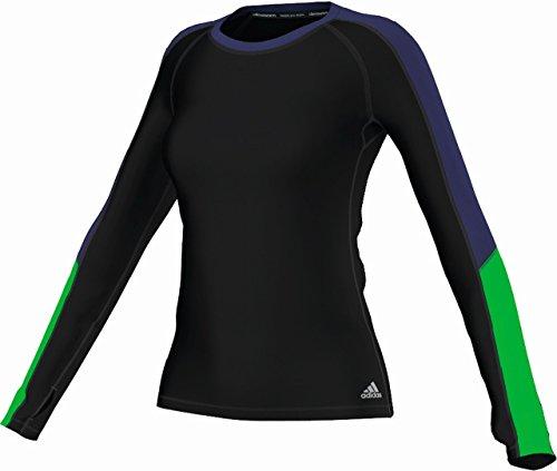 Adidas Techfit ClimaWarm haut à manches longues pour femme AW14 Noir/violet
