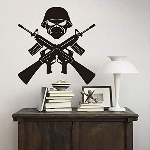 Makeyong Decoración Para El Hogar Ak-47 Arma Soldado Tatuajes De Pared Extraíble...