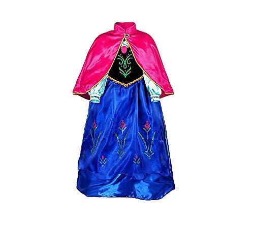 Shangrui Prinzessin Kostüm Kleid, 2-teiliges Mantel Mädchen Kleid, Zauberstab und Zopf, Karneval Party