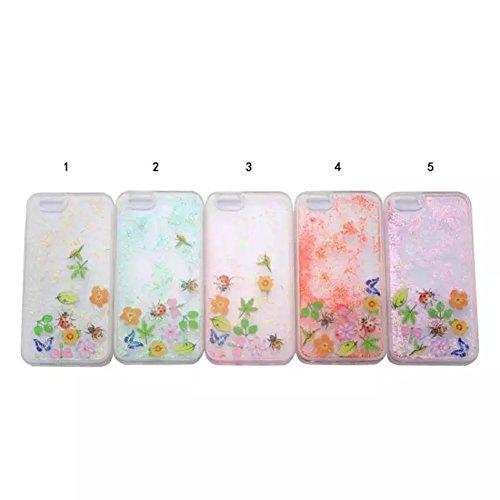 iPhone 6S Plus Hülle,iPhone 6 Plus/6S Plus Hülle Case,TOYYM 3D Kreativ Design Dynamisch Fließen Flüssig Handyhülle PC Hardcase Hüllen für Apple iPhone 6 Plus/6S Plus 5.5inch,Glitter Glitzer Sparkle Ha Blumen#3